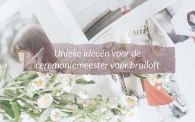 Unieke ideeën voor de ceremoniemeester voor bruiloft