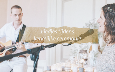 Liedjes tijdens kerkelijke ceremonie