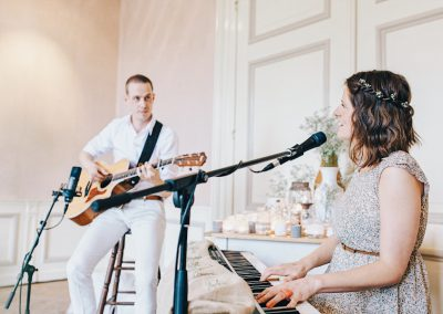 Akoestisch duo Huwelijksceremonie Zangeres Gitarist